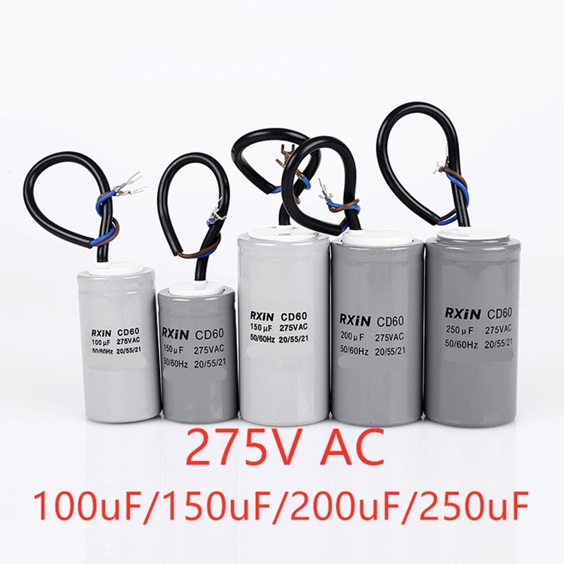 Single-phase Ac Motor Starting Capacitor Type CD60 275V AC High-capacity Capacitor 100uF/150uF/200uF/250uF