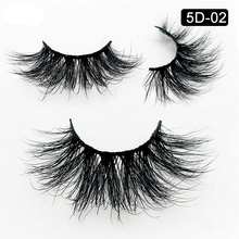 5D Mink Lashes Strips Custom Eyelashes Packaging Dramatic Lashes 25MM Mink Eyelashes Bulk Long Thick Silk Eye Makeup Accessories