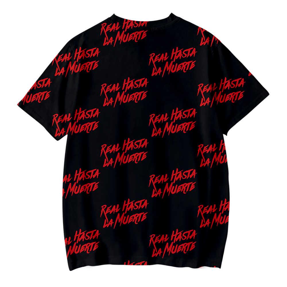 Anuel Aa Real Hasta La Muerte 3D camiseta mujeres/hombres/niños verano Cool moda Casual de manga corta Camiseta de hip hop Top Tees