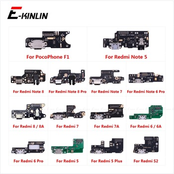 Charging Port Connector Board Parts Flex Cable Microphone Mic For XiaoMi PocoPhone F1 Redmi Note 8 8T 7 6 5 Pro Plus 8A 7A 6A S2 1