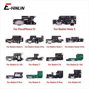 Image 1 - La carte de connecteur de Port de charge partie le micro de Microphone de câble flexible pour XiaoMi PocoPhone F1 Redmi Note 8 7 6 5 Pro Plus 8A 7A 6A S2