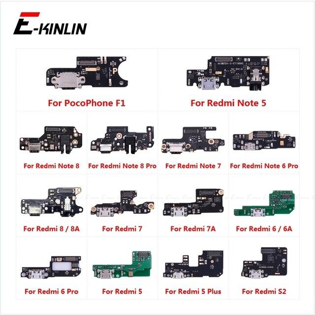 La carte de connecteur de Port de charge partie le micro de Microphone de câble flexible pour XiaoMi PocoPhone F1 Redmi Note 8 7 6 5 Pro Plus 8A 7A 6A S2