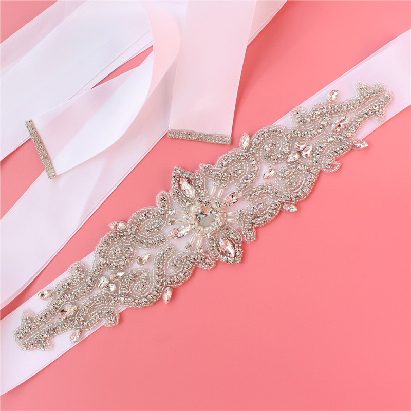 YJWSXF bridal belt wedding dress belt ladies belt rhinestone belt wedding party belt wedding accessories