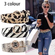 Cinturon Cucci Fashion Leopard Belt Women Snake Zebra Print Thin Horsehair Waist