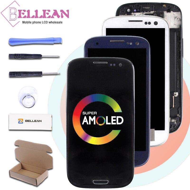HH Promoção 4.7 Polegada I9300 Tela Lcd de Toque Digitador Assembléia Lcd Para Samsung Galaxy S3 I9301 I9305 I747 Exibição