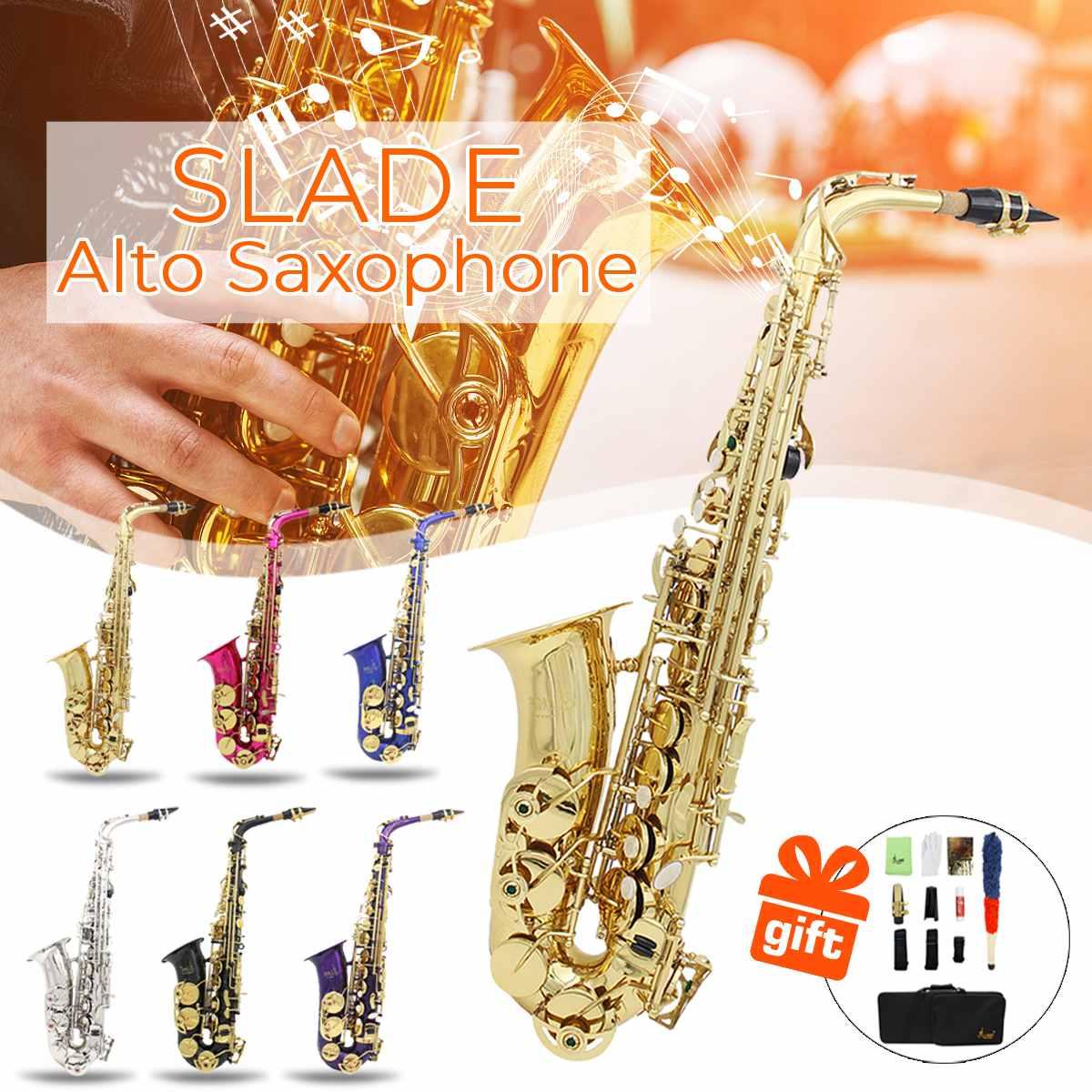 Instrumento de Orquestra Trompete com Bolsa de Transporte Slade Conjunto Saxofone Alto Apartamento Requintado Sax Aumento Acolchoada eb