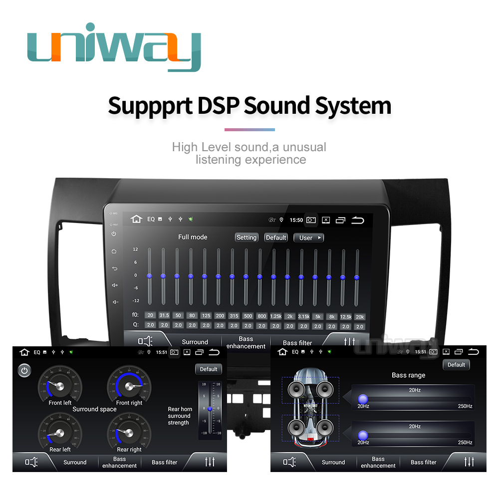 Image 4 - Uniway PX30 DSP YS301 car dvd for Mitsubishi Lancer 10.1 inch 2008 2009 2010 2011 2012 2013 2014 2015 car stereo navigatorCar Multimedia Player   -