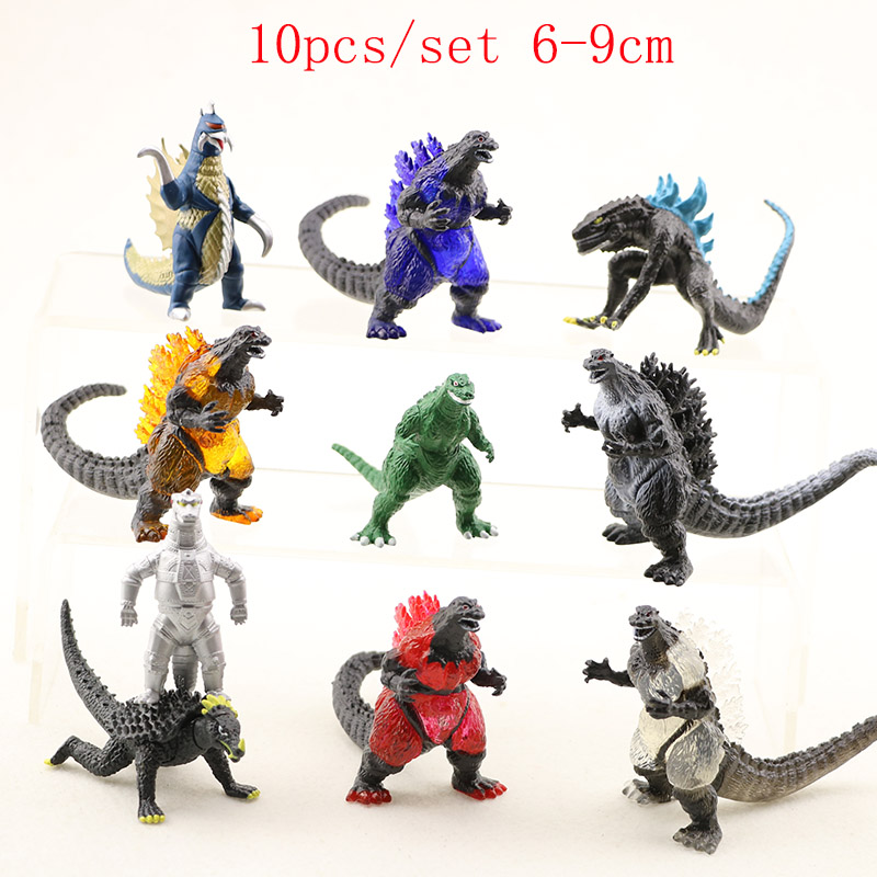 4/8/10/12 pcs/set Hot!Cool Movie Monster Dinosaur Gojila Action Figure <font><b>Toys</b></font> PVC Hobby Collection Model Dolls <font><b>Kid</b></font> Christmas Gifts image