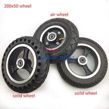 200x50 roda solida para scooter elétrico, pneu com roda hub 8