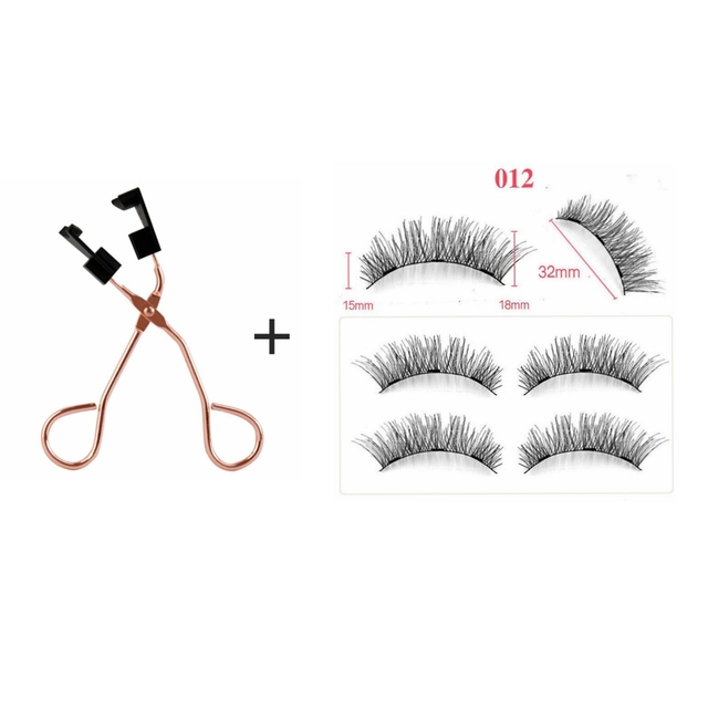 Magnetic Eyelashes Natural 3D Magnetic Eyelash No Glue, with Applicator Clip,pestañas magneticas,cils magnetique,cilios magnetic 2