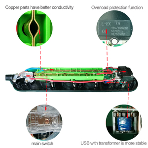 Image 4 - Euロシアusb電源タップ電気延長ソケットプラグマルチusb充電ポート 3 メートルコードケーブルサージプロテクター