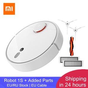 Image 1 - [En Stock]2019 XIAOMI Mi Robot aspirateur 1S pour la maison balayage automatique nettoyage planifié App contrôle ld & caméra Navigation