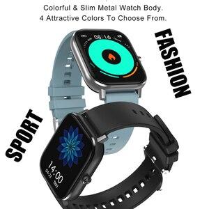 Image 2 - DT35 ساعة ذكية الرجال بلوتوث دعوة تعمل باللمس الكامل جهاز تعقب للياقة البدنية ضغط الدم ساعة ذكية IP67 النساء Smartwatch ل amazfit x