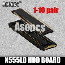 Asepcs X555LD carte HDD pour Asus X555LD K555L A555L X555LJ X555LN X556U X555LJ K555 X555LB Interface sur carte HDD et sur Mainboa(China)