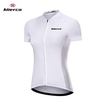 Mieyco biała koszulka kolarska czarna koszulka z krótkim rękawem ropa ciclismo triathlon odzież rowerowa mtb jersey oddychające ubrania do jazdy rowerem tanie i dobre opinie CN (pochodzenie) POLIESTER Stretch Spandex SHORT WOMEN short cycling jerseys Wiosna summer AUTUMN Koszulki Zamek na całej długości