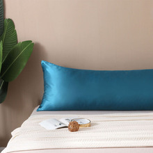 High end Couple double Pillow case 100 Satin silk pillow cases solid color body size Pillowcases