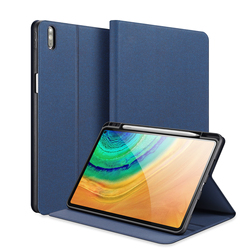 Luxury Tablet Leather case For HUAWEI MatePad Pro 10.8 TPU Smart Sleep Wake DUX DUCIS DOMO Series Trifold Protective Case Cover