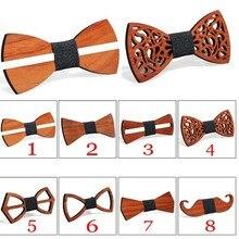Деревянный мужской галстук-бабочка, деревянные галстуки-бабочки, вечерние галстуки-бабочки, вечерние галстуки-бабочки для мужчин, деревянные Галстуки для женщин и детей