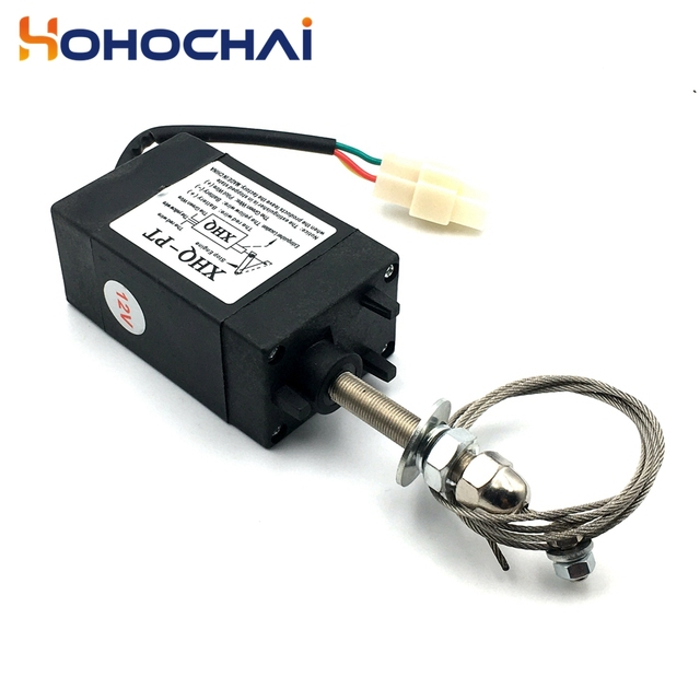 XHQ-PT 12V 24V Power Off pull Type Diesel Engine Accessory Stop Solenoid 5