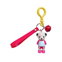 Couples Cartoon Anime Bare Toys Bear Pom Key Pendant Kids Girls Boys Gift Keychain Baby Bag Decor We bears Doll