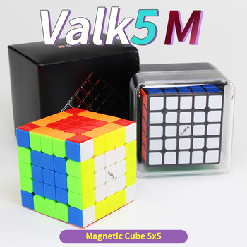 Mofangge Valk5M 5x5x5 Magnetic Speed Cube 5x5 Valk5 M Cubo Magico Cubes Toy Puzzle QiYi  By Magnets