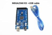 MEGA2560 R3 ATmega2560 R3 AVR USB مجلس + كابل يو اس بي + ميجا 2560 R3 حافظة لاردوينو ميجا 2560 R3