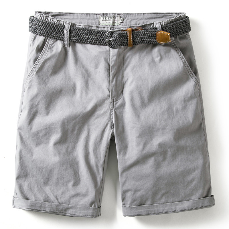 Summer 2020 NEW 100% Cotton Solid Shorts Men Casual Beach Men Shorts 10 Colors High Quality Elastic Waist Shorts Male Short