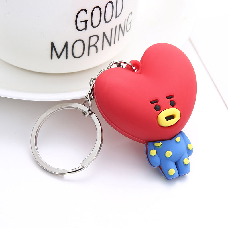 Kpop Silicon Gel Pendent Keychain Korean Band Cartoon Figure Pendent Keyring