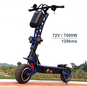 FLJ 7000W E Scooter con motores duales 72V scooter Eléctrico neumático de carretera pedal led mejor velocidad electrico patín kickscooter