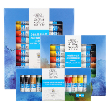 paul rubens 12 24 48 watercolor paint set with metal case solid artist water color painting pigment for drawing art supplies 12/18/24Color Professional Watercolor Paint Premium Water Color Pigment for Artist Painting Drawing Art Supplies