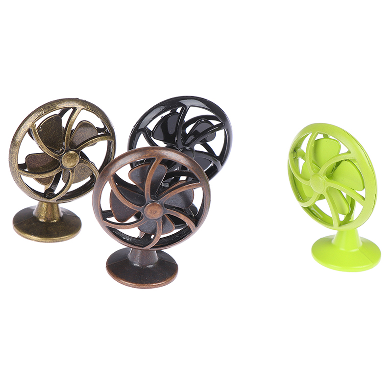 1/12 Dollhouse Miniature Accessories Mini Alloy Electric Fan Simulation Model <font><b>Toys</b></font> <font><b>for</b></font> Doll <font><b>House</b></font> Decoration image