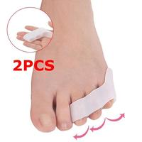 2pcs Toe Separator Men Women Sebs Three-hole Small Toes Split Overlap Protect Outer Thumb Separator Foot Corrector Care Tools