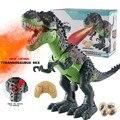 Робот-динозавр с дистанционным управлением  прогулочная игрушка со звуковым светом  развивающие игрушки  спрей  Огненный Дракон  электриче...
