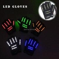 Novelty Men Women LED Gloves Carnival Festival Rave Glowing Gloves Light Up Luminous LED Gloves For Halloween Stage Show