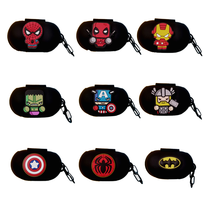 Cartoon Marvel Series Silicone Case Cover Earphone Pouch Dust-proof Protective For Samsung Galaxy Buds Ultra Thin Protector Case