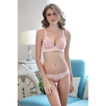 Sexy Lace Bra Set Women Lingerie Push Up Brief Panty Lady Fashion Intimates And New