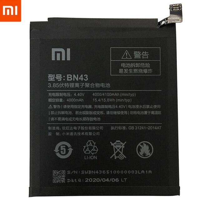 Originale XiaoMi Batteria di Ricambio Per Xiaomi Redmi 3 3S 3X 4X 4A 5A 3 pro 5 Più Nota 3 4 4X 5 5A 6 7 Pro Mi5 Mi 8 5X Batteria 3