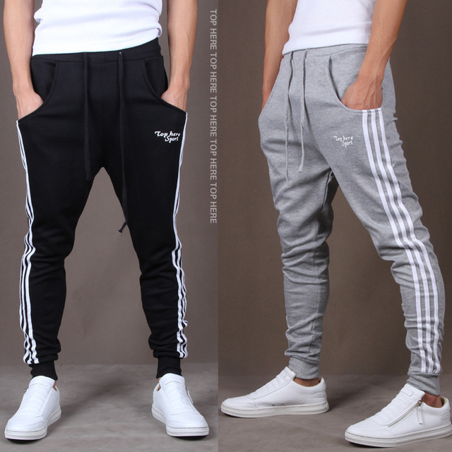 2020 New Fashion Tracksuit Bottoms Mens Casual Pants Cotton Sweatpants Mens Joggers Striped Track Pants Gyms Clothing 2