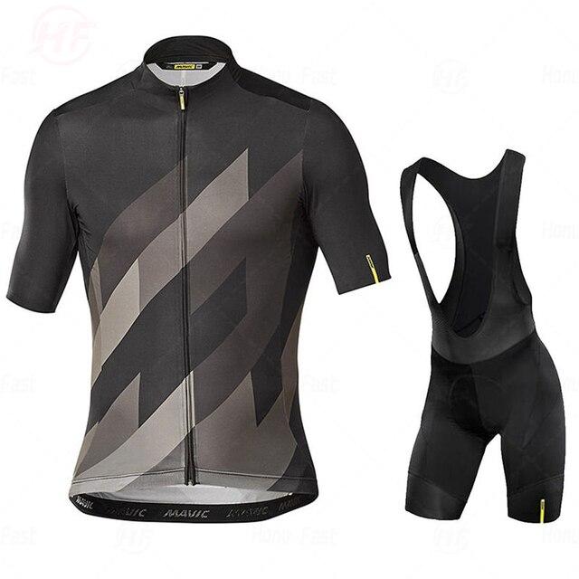 Camisa de ciclismo go pro mavic, conjunto de roupa de verão, equipe de ciclismo, shorts de bicicleta, roupas esportivas 3