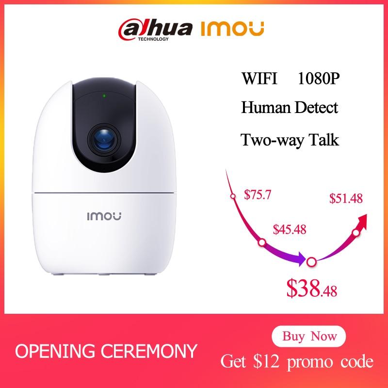 Cámara de vigilancia Dahua IP, cámara Imou Ranger 2 WIFI 1080P, visión nocturna para bebés, seguridad en el hogar, detección de movimiento bidireccional de 360 °