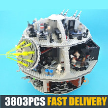NEW Star Series 3803Pcs Death Star Fit Legoings Star Wars Fighter Figures Model Building Block Bricks Diy Toys Boys Gifts Kid цена