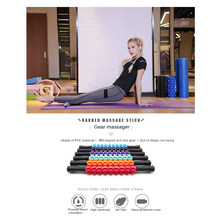Yoga Roller Stick Leg Back Muscle Massage Therapy Pain Relieve Roller Grid Column Yoga Block Home Gym Fitness Massage Equipment(China)
