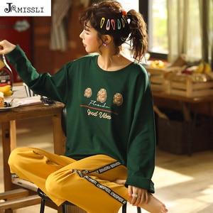 Image 1 - Jrmissli pijamas curtos sexy pijamas feminino pijamas conjunto de lingerie de verão pijamas para casa de algodão pijamas mujer terno