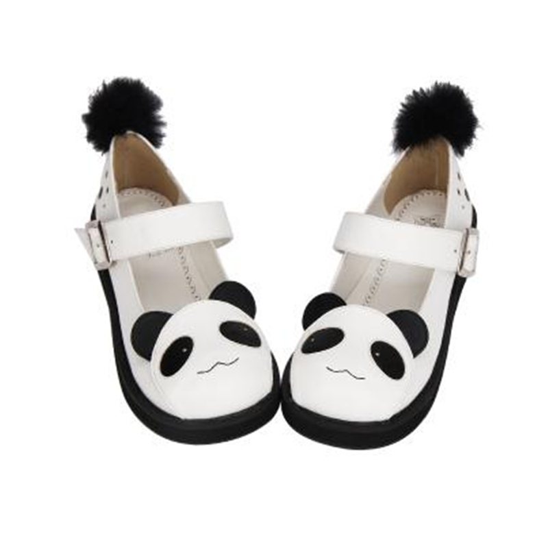 New <font><b>Lolita</b></font> <font><b>Shoes</b></font> Cute Panda Pattern Platform <font><b>shoes</b></font> Students Summer Daily <font><b>Shoes</b></font> H image