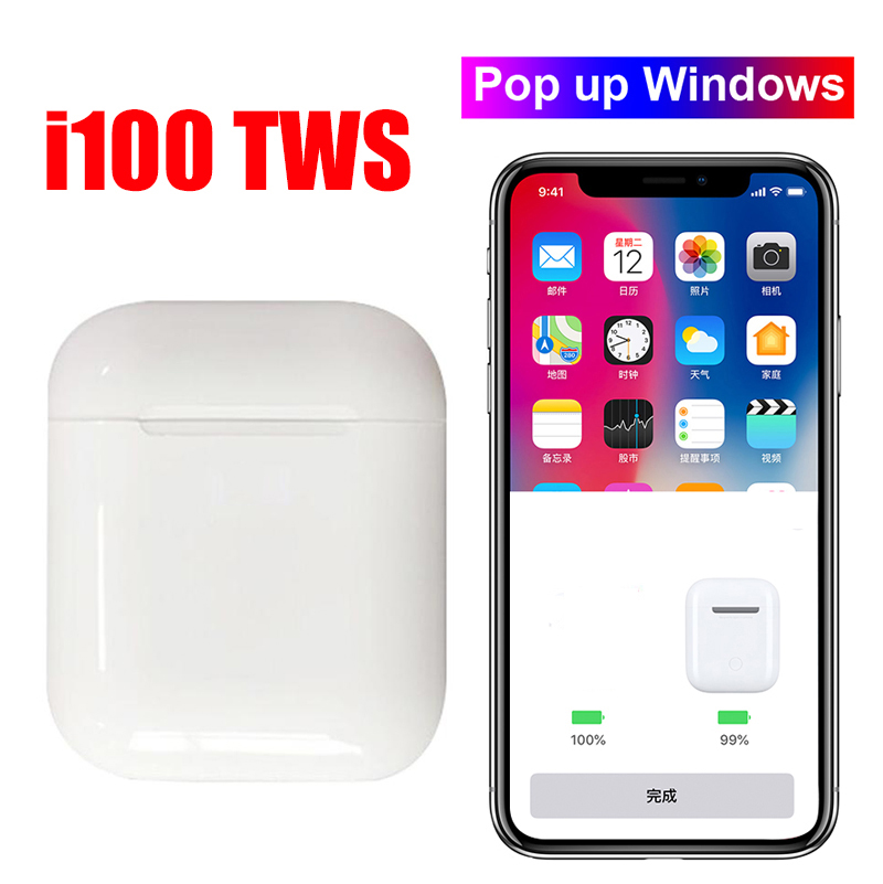 Original i100 TWS 1 1 Bluetooth 5 0 Wireless 6D heavy bass earphones PK i10 i12 i20 i30 i60 i80 i300 i1000 i2000 i800 i500 tws in Bluetooth Earphones Headphones from Consumer Electronics