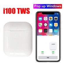 Original i100 TWS 1: 1 Bluetooth 5.0 Wireless 6D heavy bass earphones PK i10 i12 i20 i30 i60 i80 i300 i1000 i2000 i800 i500 tws