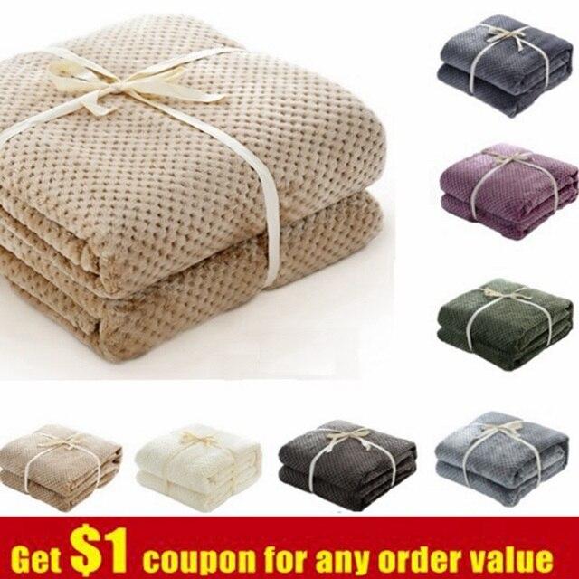CAMMITEVER Ananas Überprüfen Flanell Werfen Gute Qualität Home Textil Plaid Air Zimmer Herbst/Winter Verwenden Warme Weiche Bettlaken