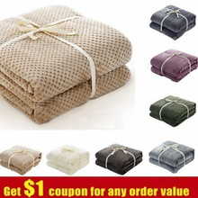 CAMMITEVER Pineapple Check Flannel Throw Good Quality Home Textile Plaid Air Room Autumn/Winter Use Warm Soft Bedsheet