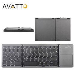 Складная мини-клавиатура AVATTO B033, с Bluetooth, беспроводная клавиатура с тачпадом для Windows, Android, iOS, планшета, iPad, телефона