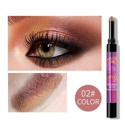 Градиентные блестящие тени для век палочка водостойкие легкие тени ручка быстрое макияж косметика для женщин модификация 6 цветов BFC99